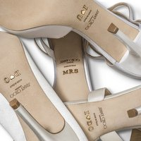 Jimmy Choo customized bridal shoes