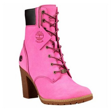 Pink is the new Timberland's color