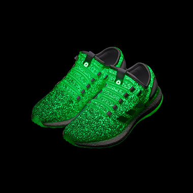 The shoes that glow at night