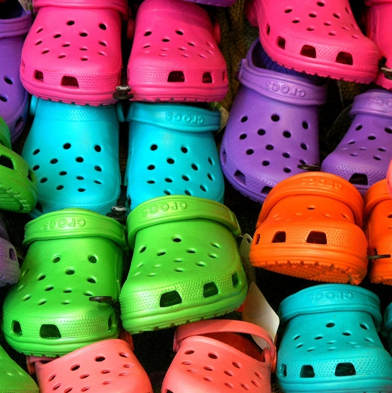 Crocs with strong quarter