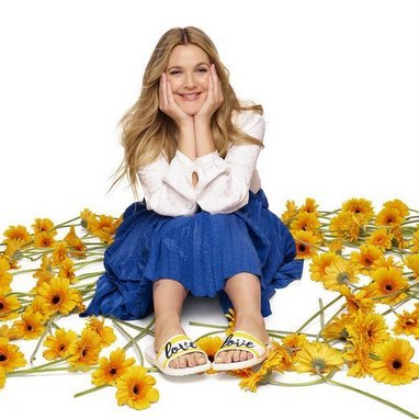 Crocs with new Drew Barrymore campaign