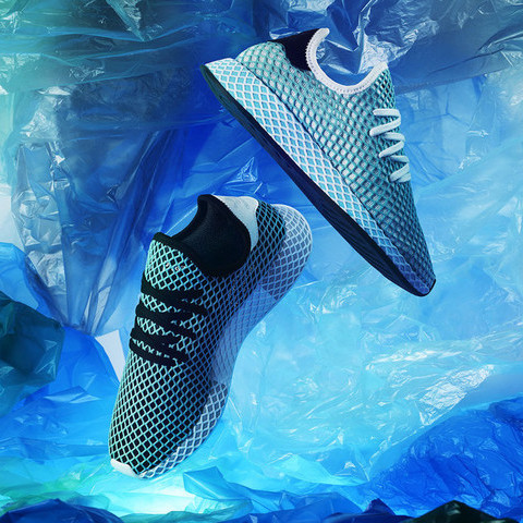 adidas focus on shoes made of recycled plastic waste
