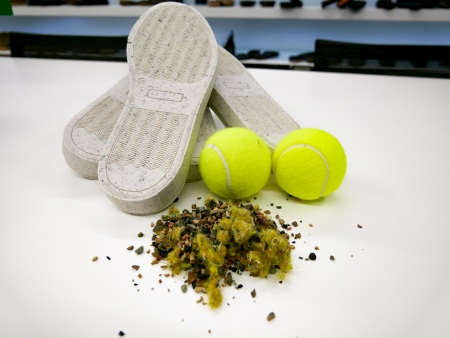 Did you know shoe soles can be made from tennis balls?