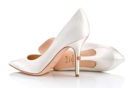 Jimmy Choo customized bridal shoes